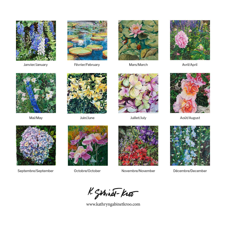12 month flower calendar 2021